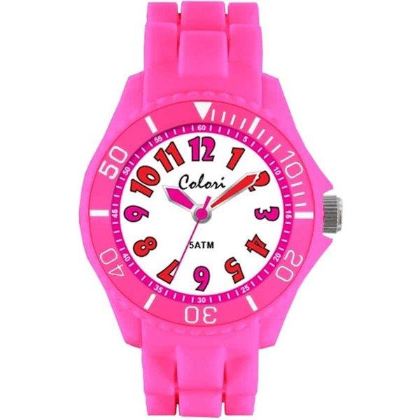 Colori 5-CLK016 - Horloge - Siliconen - 30 mm - Roze
