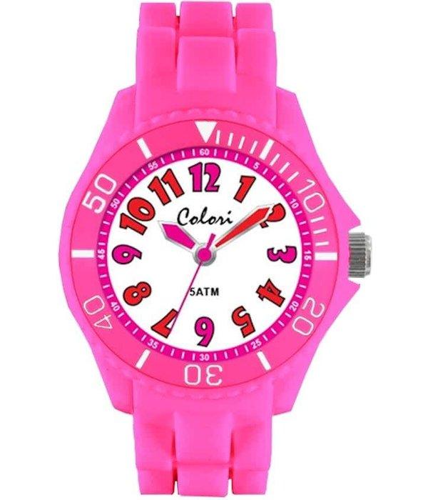 Colori  Colori 5-CLK016 - Horloge - Siliconen - 30 mm - Roze