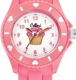 Colori Colori 5-CLK056 - Horloge - Siliconen - 30 mm - Roze