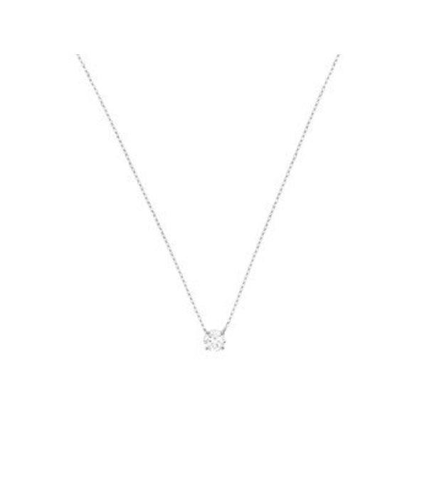 Diamant Centrum Rotterdam best basics  Collier Witgoud Zirkonia 0,8 mm 40 + 3 cm