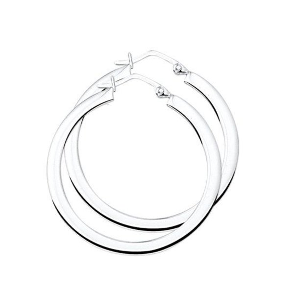 Oorringen Vierkante Buis - Zilver