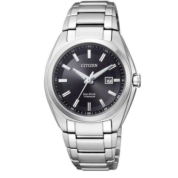 Citizen Super Titanium - Horloge - Titanium - 34 mm - Zilverkleurig / Zwart - Solar uurwerk