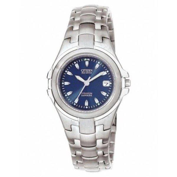 Citizen Super Titanium - Horloge - Titanium - 28 mm - Zilverkleurig / Blauw - Solar uurwerk