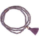 Diamant Centrum Rotterdam best basics  armband - kristal - paars - 18 cm