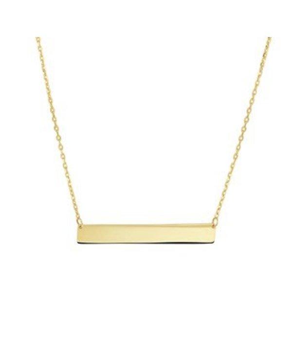 Diamant Centrum Rotterdam best basics  Graveercollier 1,0 mm plaat 5,0 mm 41 - 43 - 45 cm
