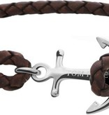 Tom Hope  Tom Hope Havana Brown Armband TM0211 (Lengte: 18.00-19.50 cm)