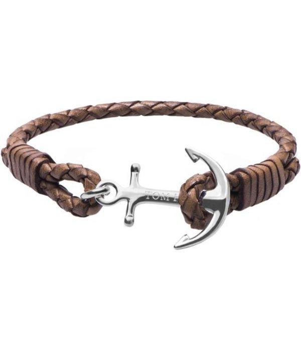 Tom Hope  Tom Hope Cognac Brown Armband TM0221 (Lengte: 18.00-19.50 cm)