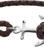 Tom Hope  Tom Hope Havana Brown Armband TM0210 (Lengte: 16.50-18.00 cm)