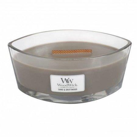 WoodWick® Geurkaarsen Woodwick HearthWick Flame Ellips Sand & Driftwood