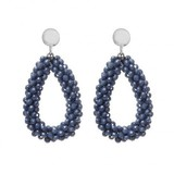 Biba  BIBA OORBELLEN BEADS DENIM BLUE 80719