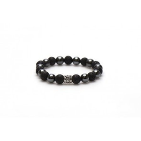 karma Black Panther Silver Bead (10mm)