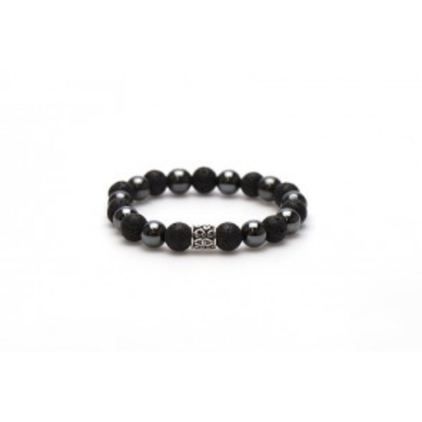 Black Panther Silver Bead (10mm)