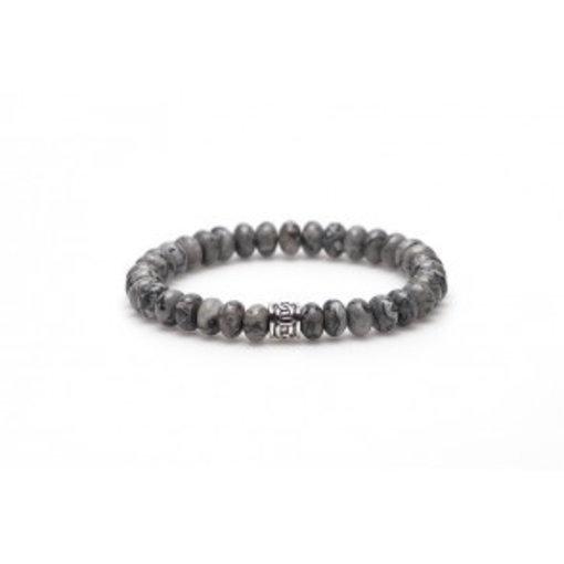 karma Crazy silver oval logo bead