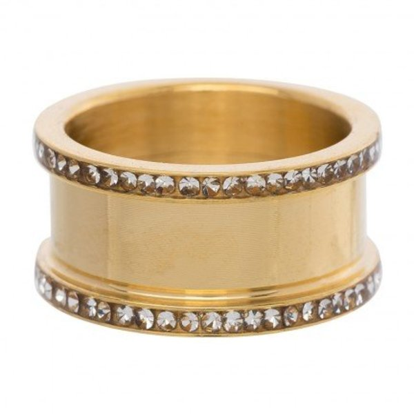 IXXXI BASIS RING ZIRCONIA 10 MM GOLD COLOR - R07001-01