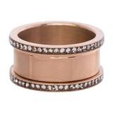 iXXXi Jewelry IXXXI BASIS RING 10 MM ZIRCONIA ROSE - R07001-02