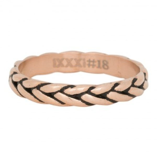 IXXXI RING WHEAT KNOT ROSE - R05102-17