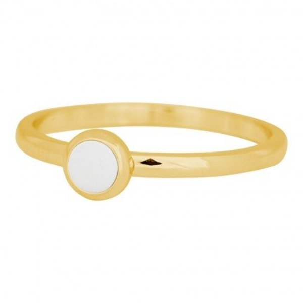 IXXXI RING STONE BRIGHT WHITE GOLD COLOR - R04108-01