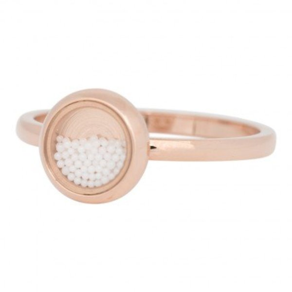 IXXXI RING FILL SMALL WHITE BALLS ROSE - R04317-02