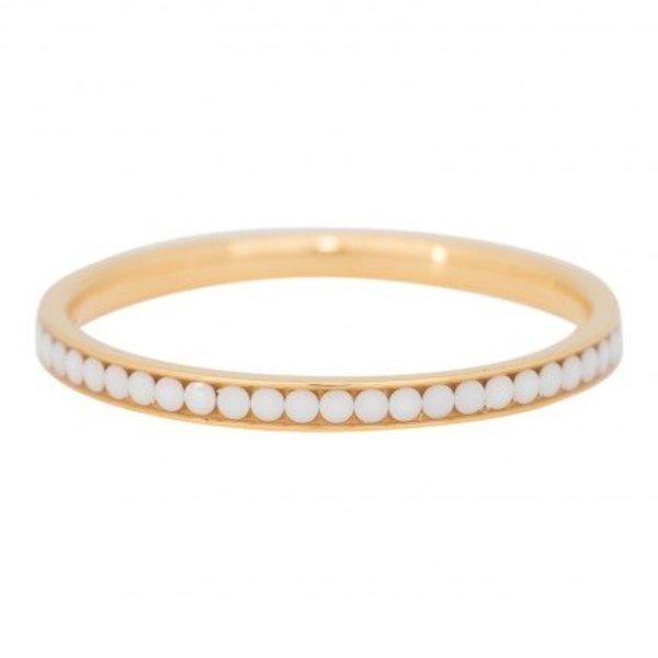 IXXXI RING ZIRKONIA WHITE STONE - GOLD COLOR R02518-01