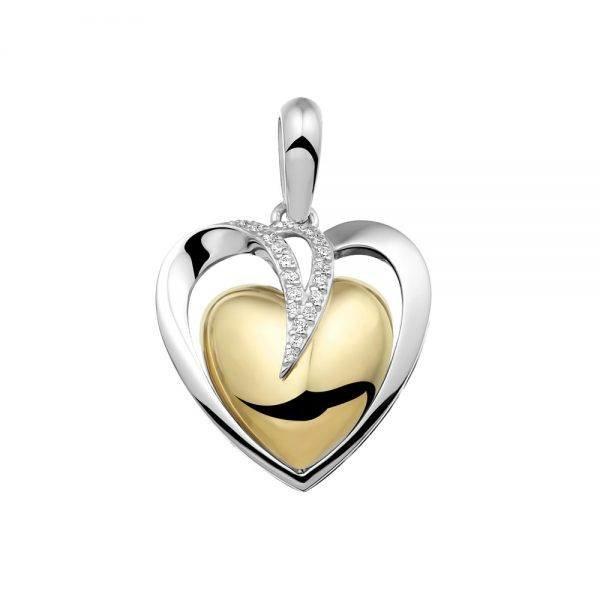 Bedel seeyou heart silver/gold