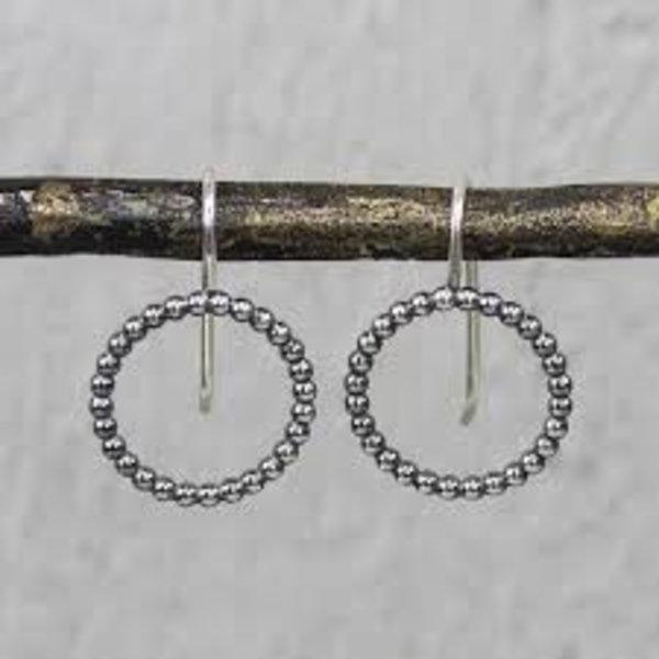 19935 - Oorhanger pareldraad zilver oxy groot