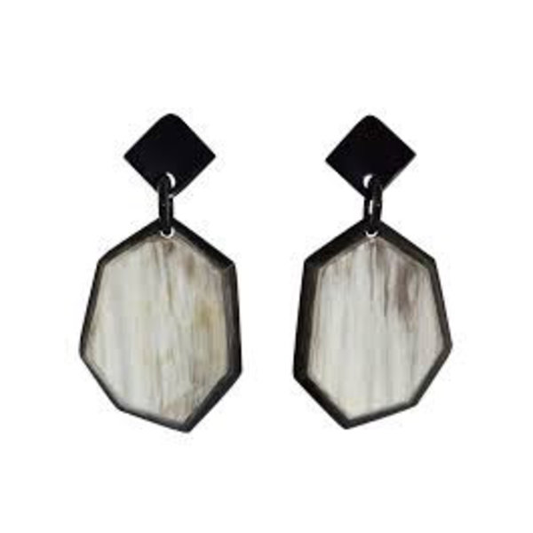 Geometric Horn earrings