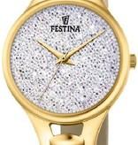 Festina Festina Mademoiselle Swarovski crystals F20335/1 - Horloge - Dames - Goudkleurig - Ø 32 mm