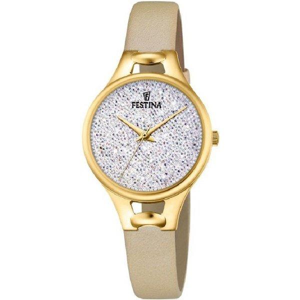 Festina Mademoiselle Swarovski crystals F20335/1 - Horloge - Dames - Goudkleurig - Ø 32 mm