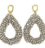 Miccy's Silver open Crystal drops