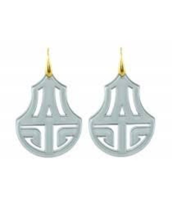 Grey resin chandeliers