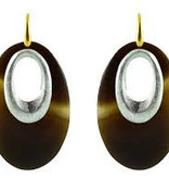 Horn ovals silver