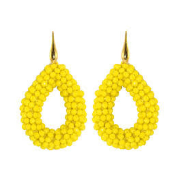 Yellow open Crystal drops