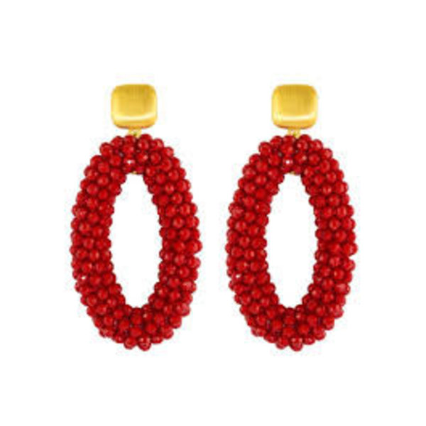 Red Crystal ovals