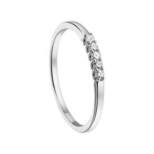 Ring diamant 0.10ct H SI
