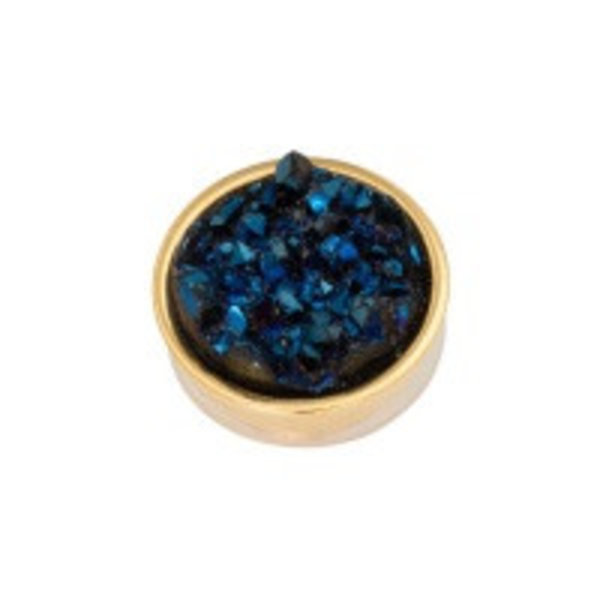 Top part drusy dark blue