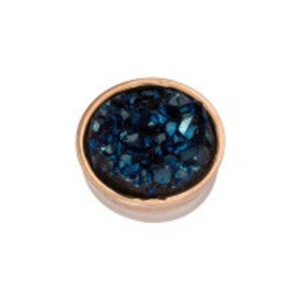 Top part drusy dark blue