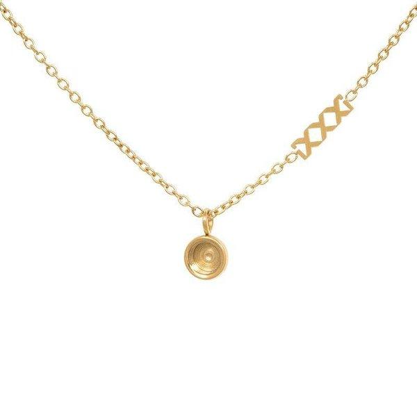 iXXXi Jewelry Necklace Chain Top Part Base 40 cm Goudkleurig