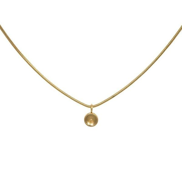 iXXXi Jewelry Necklace Snake Top Part Base 40 cm Goudkleurig