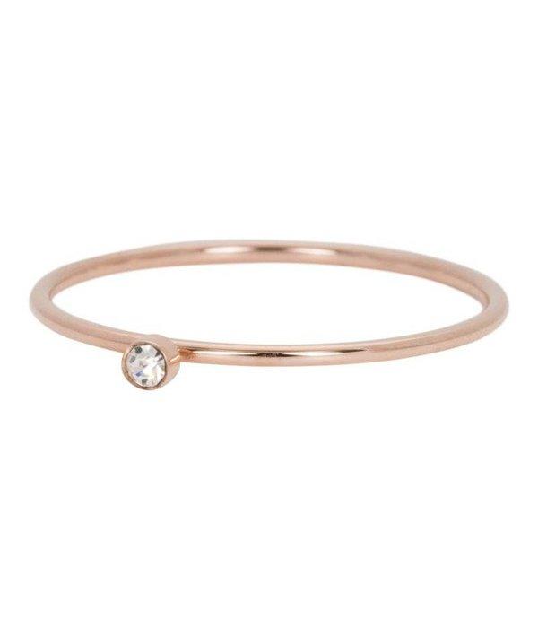 iXXXi iXXXi Jewelry Zirconia 1 Stone Crystal 1mm Rosé