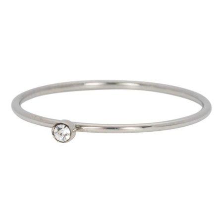 iXXXi Jewelry Vulring Zirconia 1 Stone Crystal 1mm Zilverkleurig