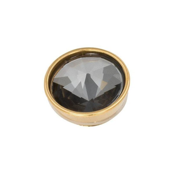 iXXXi Jewelry Top Part Pyramid Black Diamond Goudkleurig
