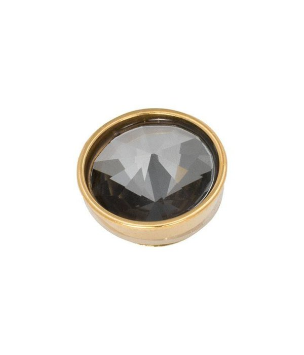 iXXXi iXXXi Jewelry Top Part Pyramid Black Diamond Goudkleurig