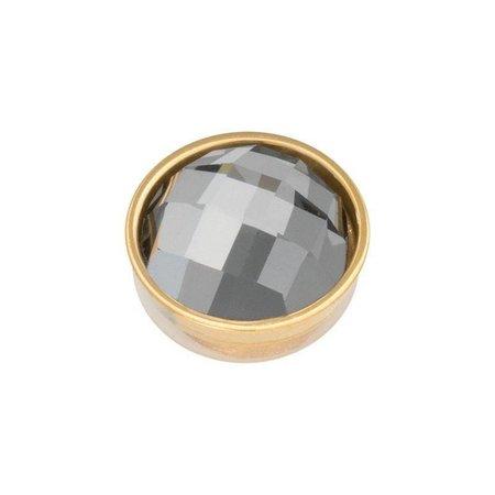 iXXXi Jewelry Top Part Facet Black Diamond Goudkleurig