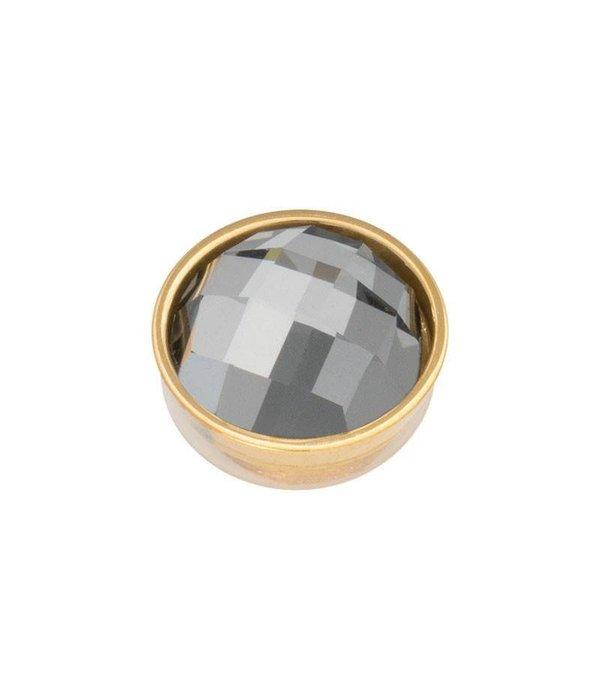 iXXXi iXXXi Jewelry Top Part Facet Black Diamond Goudkleurig