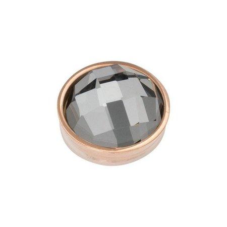 iXXXi Jewelry Top Part Facet Black Diamond Rosé