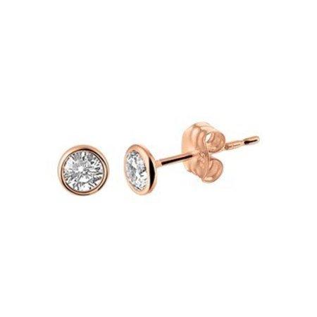 Diamant Centrum Rotterdam Huis collectie   Oorknoppen zirkonia