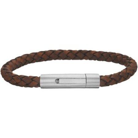 Armband leder mat 6 mm 21 cm