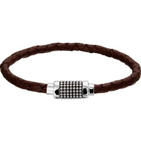 Armband leder 9,5 mm 21 cm