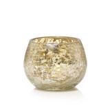 Yankee Candle Kengsinton Votive Holder Mercury on Crackle Glass