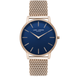 Lars Larsen Lars Larsen: LW47 · mens watch · rose gold watch with blue dial - LL147RDRM
